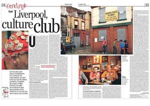 Libération newspaper feature on Liverpool Culture Club. Photographs Garry Clarkson, report by Christian Losson.
