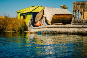 Decommissioned Totora Reed Boat