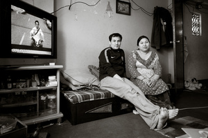 Ram Dai and his wife at home