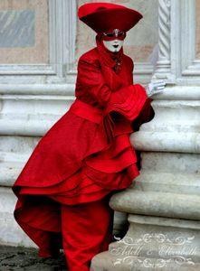 Venetian Lady in Red