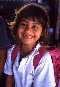 Latina young school girl
