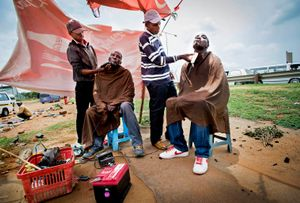 The barbers in Soweto