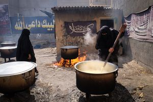 Stirring the rice
