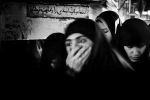 A group of women in Behesht Zahra Martyrs cemetery. Teharan, Iran 2009 © Paolo Pellegrin