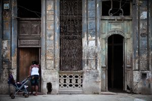 Woman with Pram, Havana, Cuba, 2011