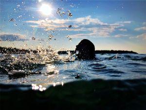 swim, 6:46pm