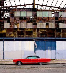 Red Car on Poplar Street