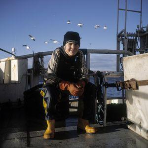 Jake Bellamy, herring fishing, Peterhead, Scotland, UK.