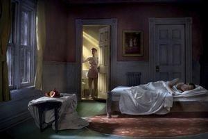 """Pink Bedroom (Still Life At Night). From the series """"Hopper Meditations"""" © Richard Tuschman"""