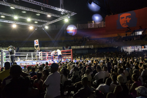Semifinals of the 5th World Series of Boxing. Ciudad Deportiva, Havana, 2015