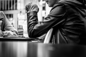 Met her in a cafe-terrace
