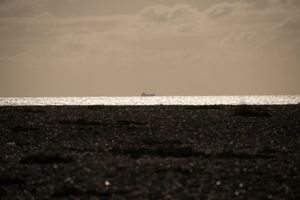 Container Ship off the coast of Dungeness, English Channel