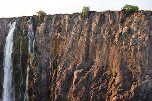 Water Running down the Cliffs