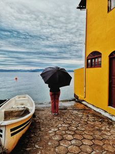 A girl with umbrella