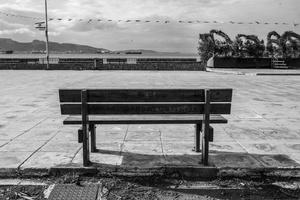 'I hate everybody' on bench, Elefsina, 2016