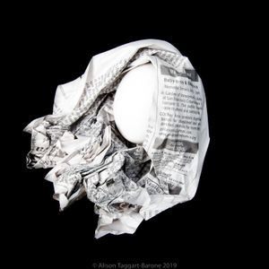 Obituary Egg, © 2011 Alison Taggart-Barone
