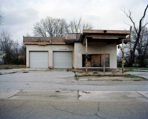 Abandoned garage. WEST ANNISTON, ALABAMA. 2012