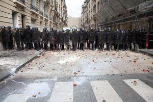 Labour law protest, Paris, 2016.
