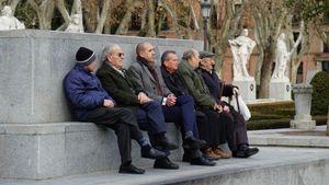Spain. Madrid. Plaza de Oriente. Wisdom comes with age