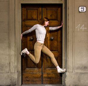 Girl Suspended in Door Florence