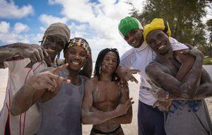 Acrobatic boys of Diani