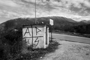 bus stop, Mt. Olympus, 2016