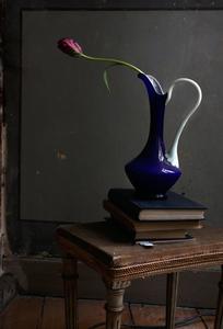 Still Life with a Blue Opalina Vase,   Studio, Antwerp