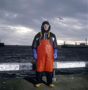 Pelagic fish factory worker Peter Szymanski, Peterhead, Scotland.