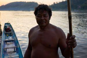 Mekong River Boat Man