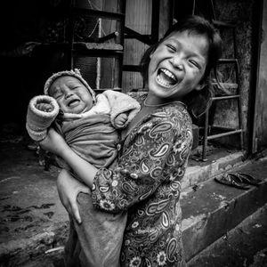 Children of the weavers in Nayabasti (Kathmandu)