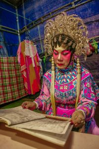 Actor Reading a Chinese opera script