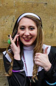 Nun at a hen party