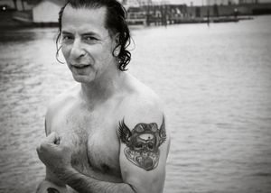 """Aquatic Warrior: Ricky builds resilience by swimming with seals in the frigid waters of San Francisco Bay, an experience he describes as """"invigorating."""""""