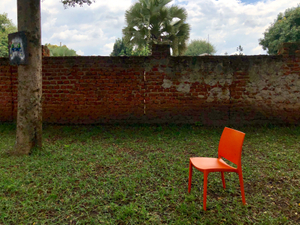 Empty Orange Chair