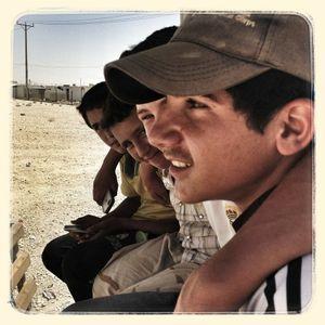 (From left to right) Salem*, Omar*, Khaled* & Ali*