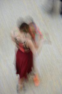 Mall of Berlin, Potsdamer Platz, tango dancers, august 2018, Nr. 2