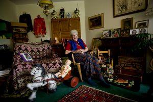 Joyce, collector of collectibles.