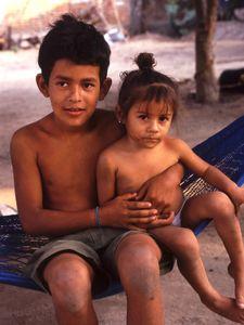 Hispanic brother and sister
