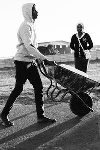 On The Move: Wheelbarrow Man