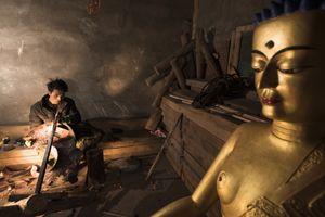 After making Buddhist statue
