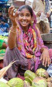 Putula, coconut vendor, Kolkata