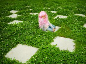 Pink wig little girl #6