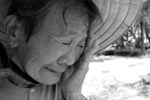Her tears tells everything