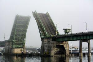 Ballard Bridge in the fog