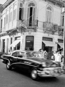 Black car , Cuba,  Havanna, Kuba, January 1996