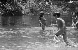 Indians in Amazon Forest