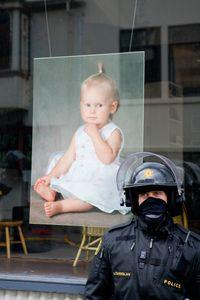 Police arrest squatters in Reykjavik, Iceland April 15, 2009