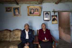 Alejandro Castillo and his wife, Rosa Chávez de Castillo, parents of Denis Atilio Castillo Chávez. Denis was one of the nine people detained and killed on May 2, 1992 by the Grupo Colina. Santa, Ancash Region, 2013
