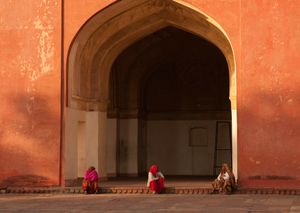 Three Women, Akbar's Tomb, Agra