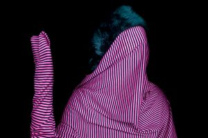 "Pink Stripes, from the Series ""Cast No Evil"""